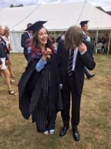 Graduation - Harry and I laughing